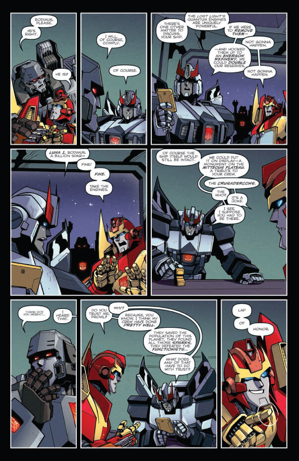 Review – Transformers Lost Light #25 (a conversation