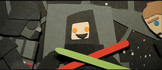 Star Wars in construction paper? Awesome!