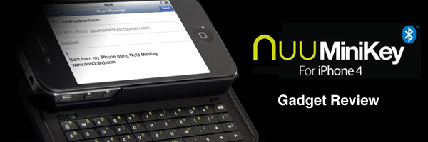 Nuu MiniKey – iPhone 4 Slide Out Keypad [Gadget Review]