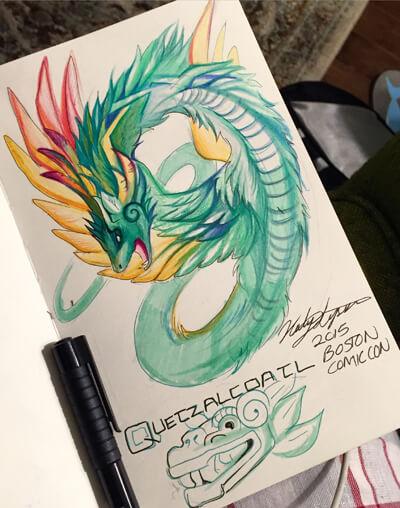 Quetzalcoatl by Lucky978 on deviantart
