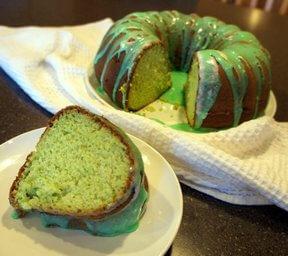 Green Rum Cake
