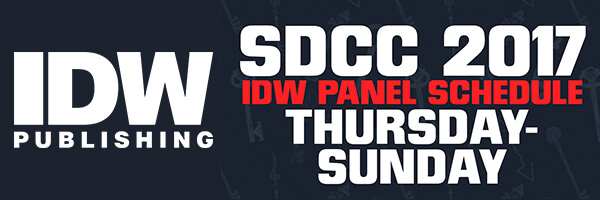 SDCC 2017 – IDW Panel Schedule
