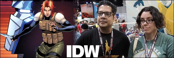 SDCC 2017 – Mairghread Scott & David Rodriguez of IDW's Transformers
