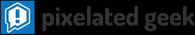 pixelated geek Logo Dark 1